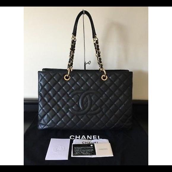 643569c796f2 CHANEL Handbags - CHANEL Black Leather XL GST Grand Shopper Tote